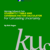 Student's T Table and Coverage Factor Calculator