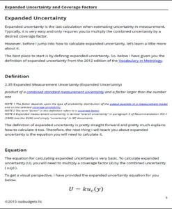Expanded Uncertainty Page