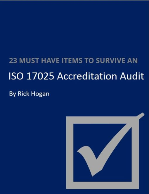 iso/iec 17025 audit checklist