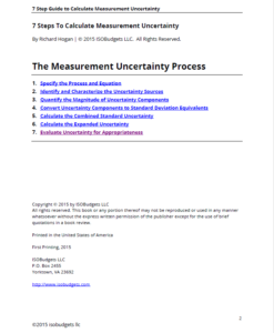 calculate uncertainty in 7 steps page 2