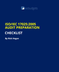 ISO17025 Audit Checklist