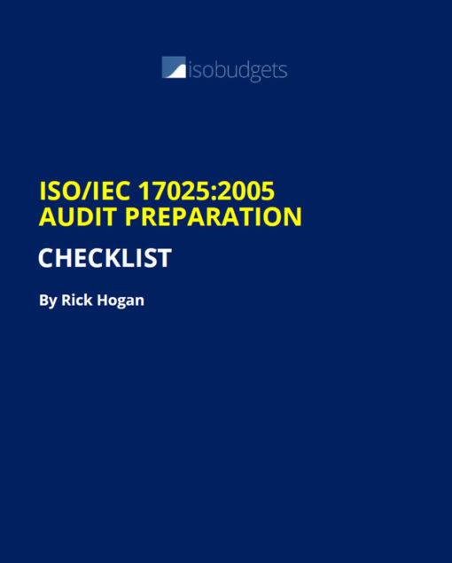 ISO17025 Audit Checklist