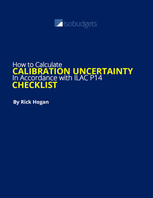 calibration uncertainty checklist by Rick Hogan