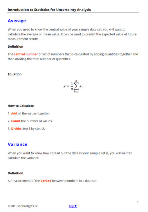 introduction to statistics for uncertainty page 5