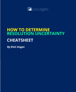resolution uncertainty cheatsheet