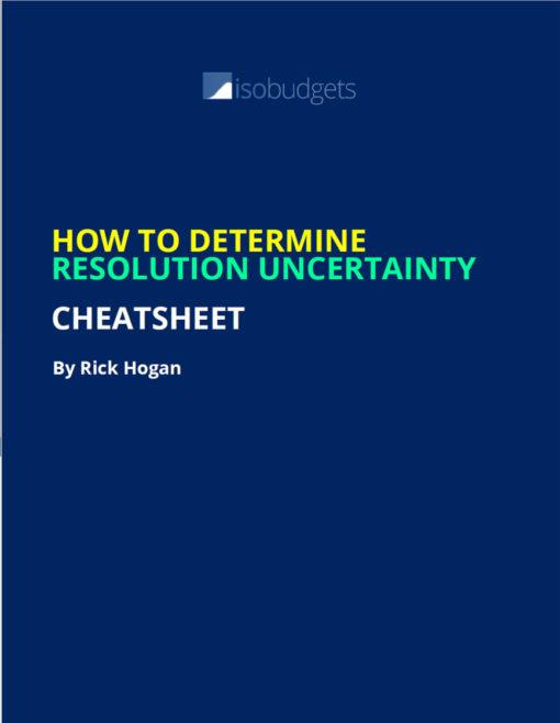 resolution uncertainty cheatsheet
