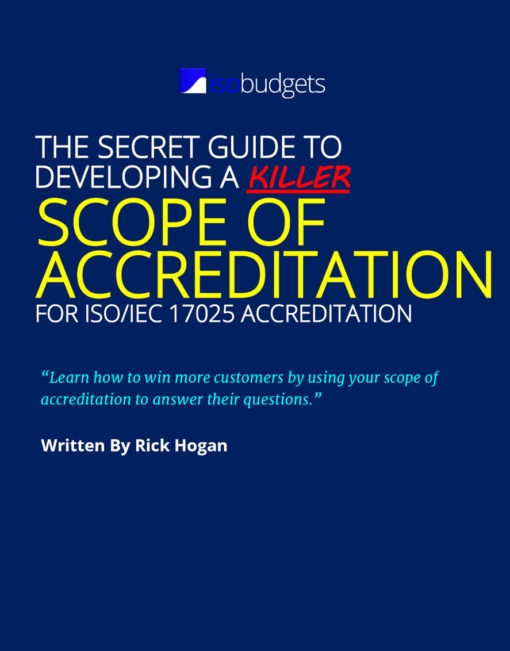 scope of accreditation guide for ISO/IEC 17025
