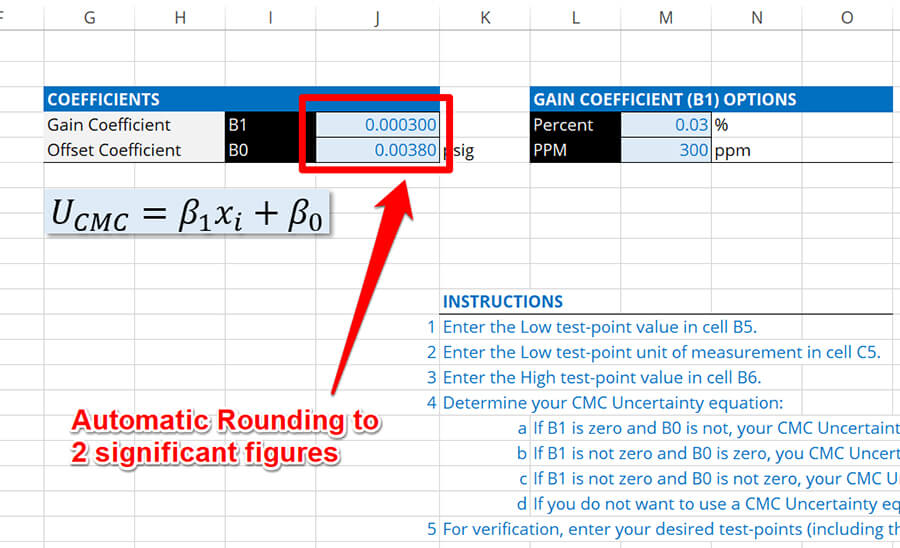 Automatically Round CMC Uncertainty to 2 Significant Figures