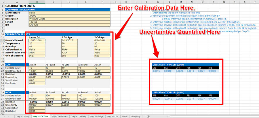Automatic Uncertainty Analysis from Calibration Data