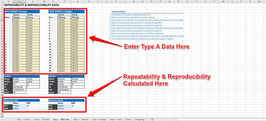 Automatic Repeatability and Reproducibility Calculator