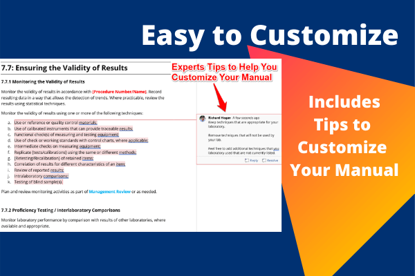 Expert Tips Included - Quality Manual Template