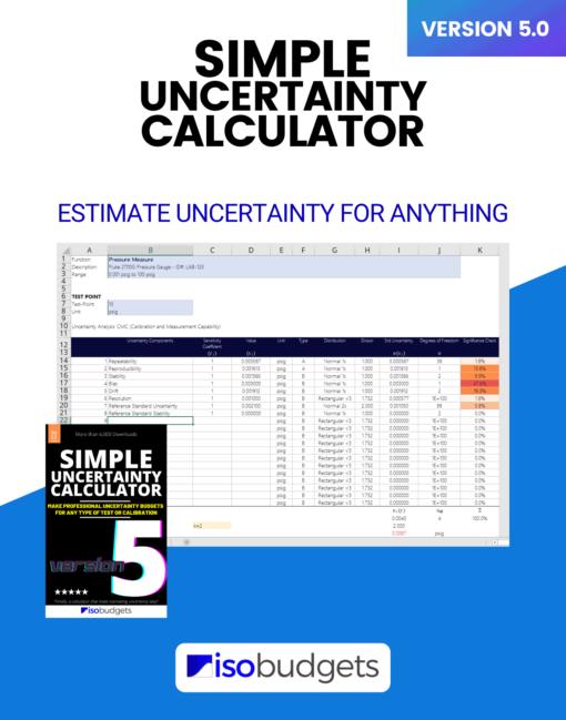Simple Uncertainty Calculator Version 5