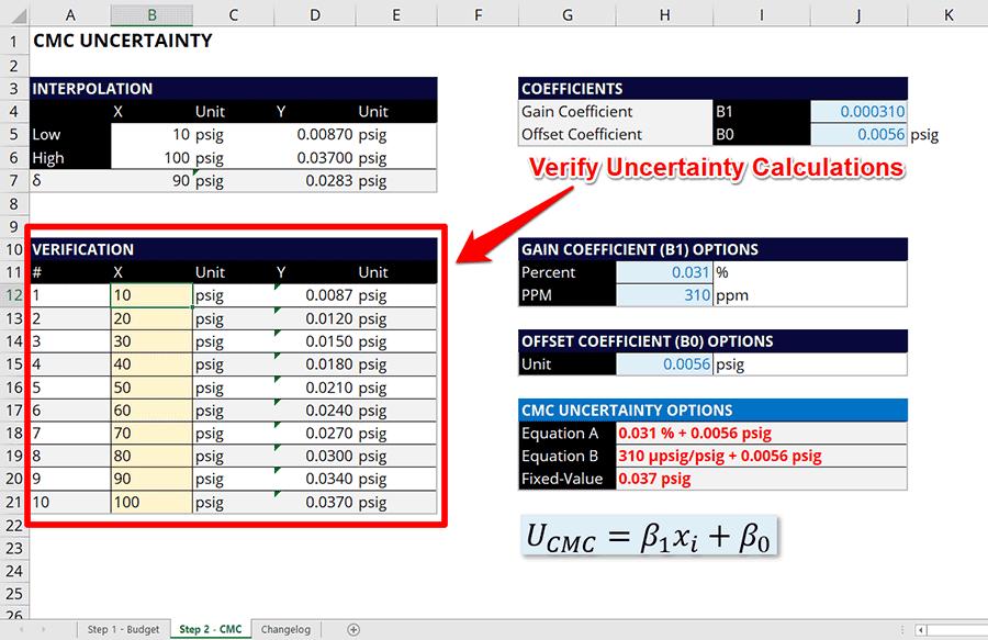 Simple Uncertainty Calculator Verify Uncertainty Calculation