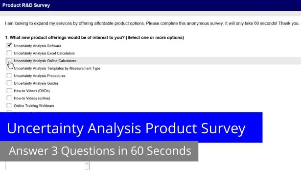 uncertainty-analysis-product-survey