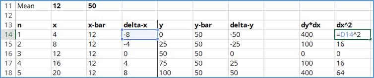 calculate dx-squared