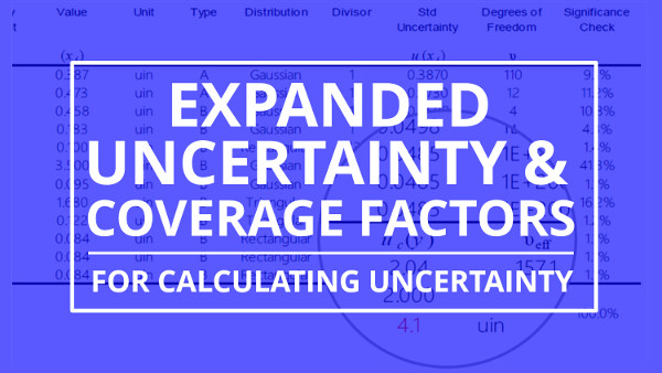 Expanded Uncertainty And Coverage Factors For Calculating