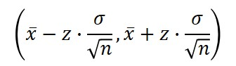 confidence interval known standard deviation formula
