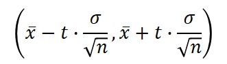 confidence interval unknown standard deviation formula