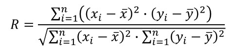 correlation coefficient formula