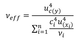 effective degrees of freedom equation