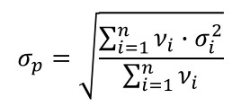 pooled variance formula