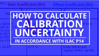 calculate calibration uncertainty in accordance with ilac p14