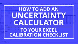 add uncertainty calculator to calibration checklist