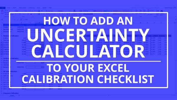 add uncertainty calculator to calibration checklist