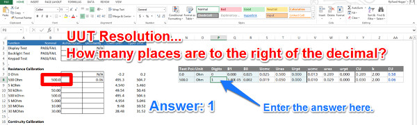 uncertainty calculator add uut resolution