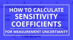 how to calculate sensitivity coefficients for measurement uncertainty