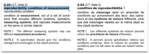 reproducibility condition of measurement definition
