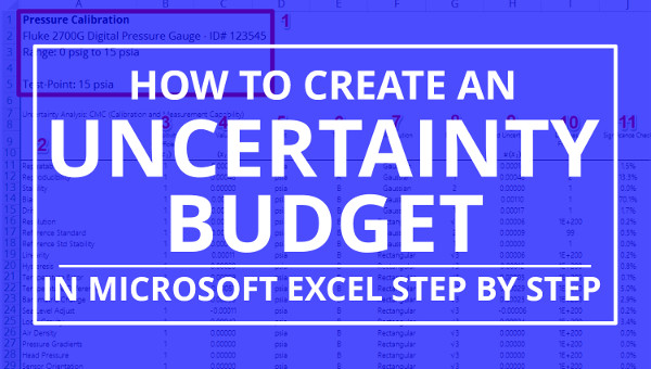How To Create An Uncertainty Budget In Excel Isobudgets