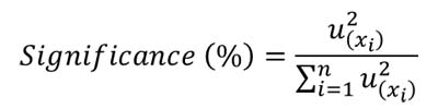 calculate significance equation
