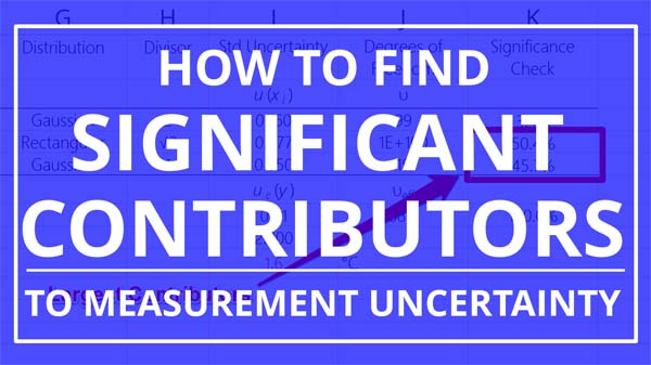 find significant contributors to measurement uncertainty