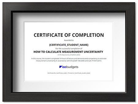 Measurement Uncertainty Training Certificate