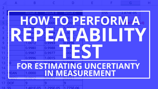 how to calculate repeatability for estimating measurement uncertainty