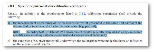 ISO 17025 2017 section 7.8.4