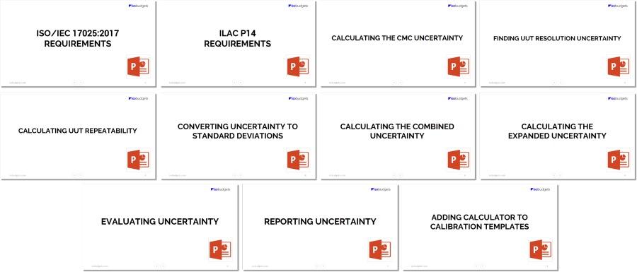 Calibration Uncertainty Training PowerPoint Slides