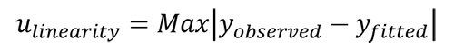 linearity uncertainty equation 1