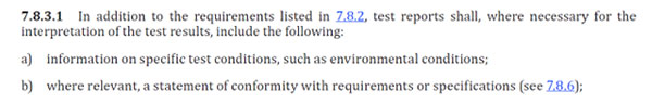iso 17025 section 7.8.3.1b