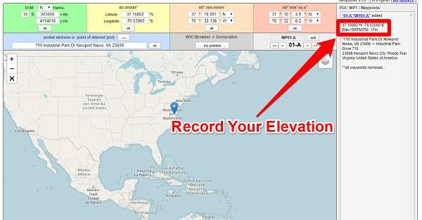 Find Elevation via Geoplaner