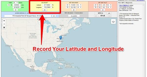 Find Latitude and Longitude via Geoplaner