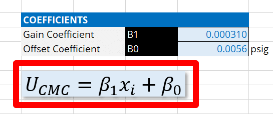CMC Uncertainty Equation Template