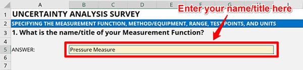 Uncertainty Calculator Survey Question 1