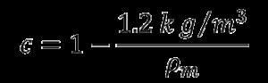 air buoyancy correction formula step 2