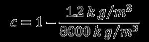 air buoyancy correction formula step 3